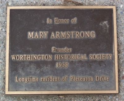Mary Armstrong Marker image. Click for full size.