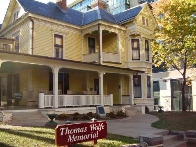 Thomas Wolfe House and National Historic Landmark Marker image. Click for full size.
