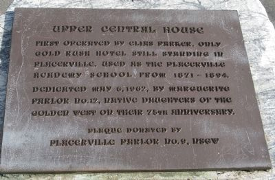 Upper Central House Marker image. Click for full size.