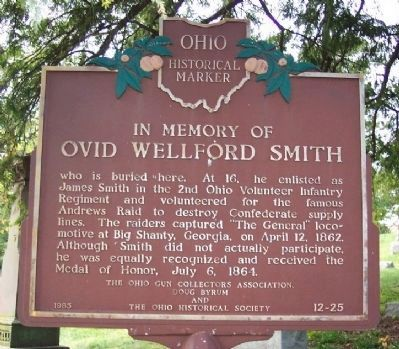 Ovid Wellford Smith Marker image. Click for full size.