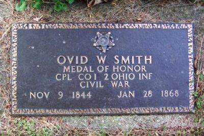Ovid Wellford Smith Military Grave Marker image. Click for full size.