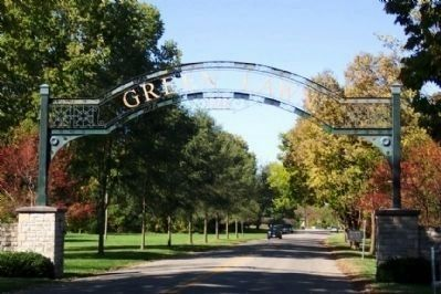 Entrance to Green Lawn Cemetery image. Click for full size.