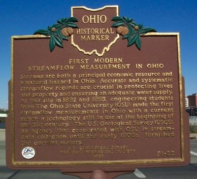 First Modern Streamflow Measurement in Ohio Marker image. Click for full size.