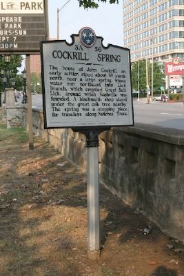 Cockrill Spring Marker image. Click for full size.