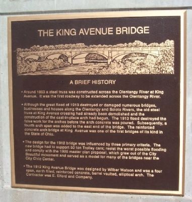 The King Avenue Bridge Marker image. Click for full size.