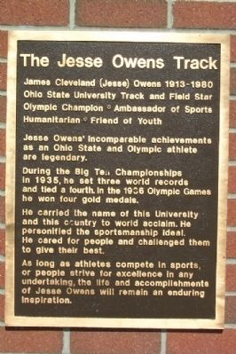 The Jesse Owens Track Marker image. Click for full size.