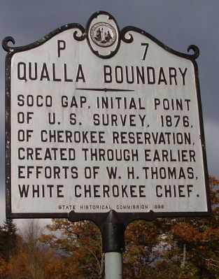 Qualla Boundary Marker image. Click for full size.