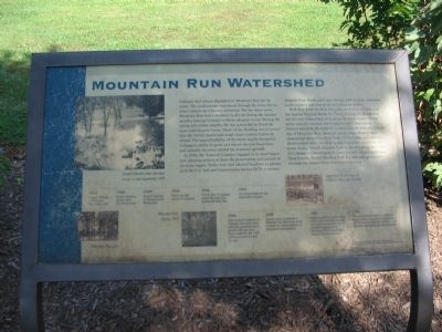 Mountain Run Watershed Marker image. Click for full size.