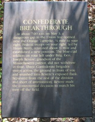 Confederate Breakthrough Marker image. Click for full size.