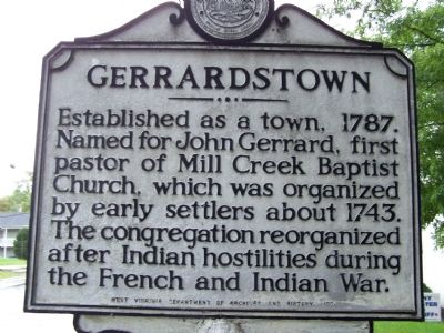 Gerrardstown Marker image. Click for full size.