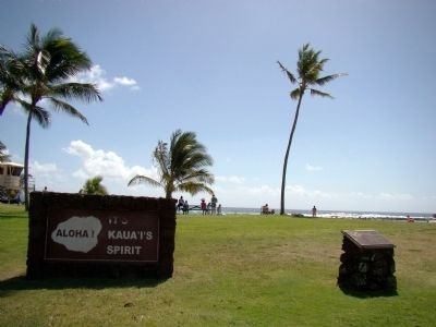 Po'ipū Beach Park and Marker image. Click for full size.