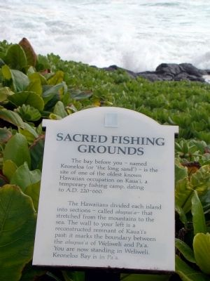 Sacred Fishing Grounds Marker image. Click for full size.