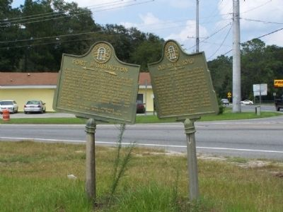 Fort Barrington Marker, shares location with Old River Road Marker image. Click for full size.