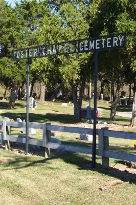 Foster Chapel Cemetery Sign image. Click for full size.