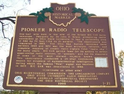 Pioneer Radio Telescope Marker (side A) image. Click for full size.
