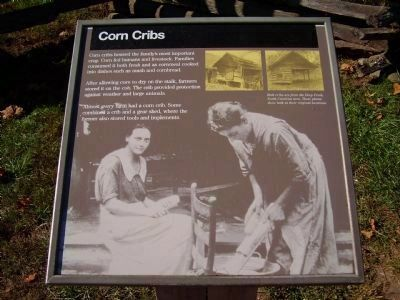Corn Cribs Marker image. Click for full size.