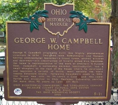 George W. Campbell Home Marker image. Click for full size.