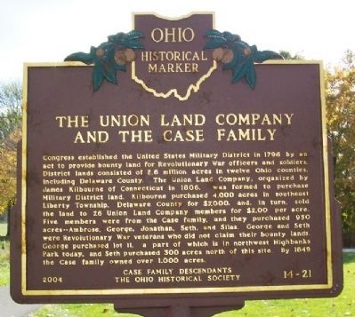 The Union Land Company and the Case Family (side A) image. Click for full size.