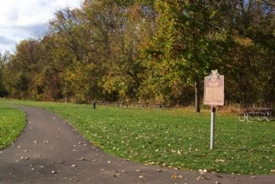 The Union Land Company and the Case Family / The Olentangy River Road Marker image. Click for full size.