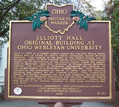 Elliott Hall Marker image. Click for full size.