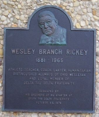 Wesley Branch Rickey Marker image. Click for full size.
