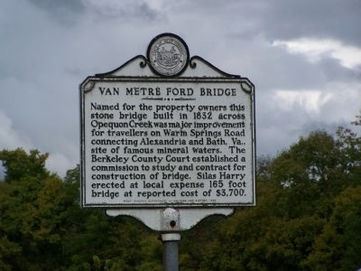 Van Metre Ford Bridge Marker image. Click for full size.