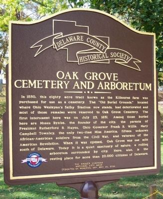 Oak Grove Cemetery and Arboretum Marker image. Click for full size.