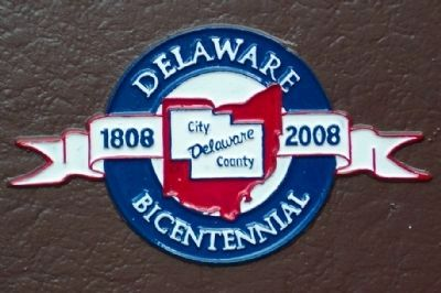 Delaware Bicentennial Logo on Marker image. Click for full size.