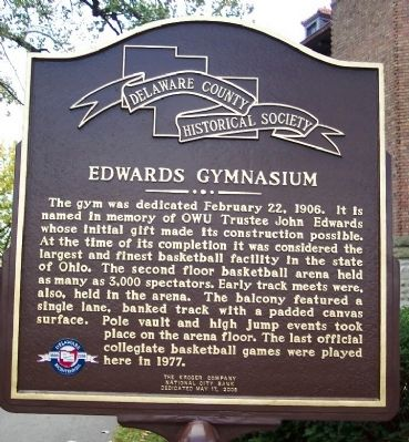 Edwards Gymnasium Marker (side A) image. Click for full size.