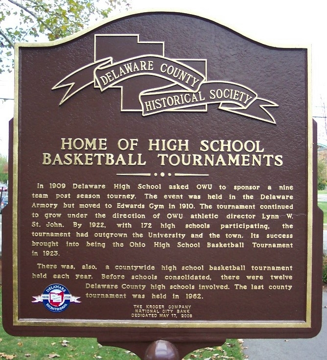 Home of High School Basketball Tournaments Marker (side B)