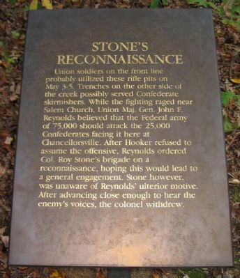 Stone's Reconnaissance Marker image. Click for full size.