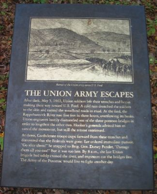 The Union Army Escapes Marker image. Click for full size.