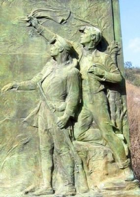 Close-Up of Sculpture on Monument image. Click for full size.
