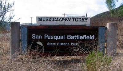 Entrance to San Pasqual Battlefield State Historic Park image. Click for full size.
