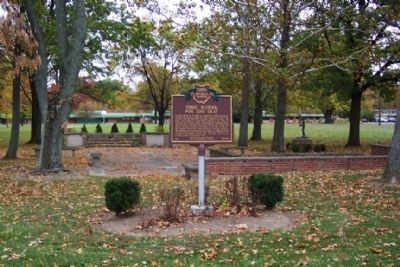 Ohio School for the Deaf Marker and Heritage Park image. Click for full size.