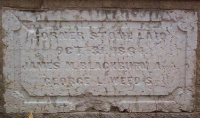 Cornerstone from Original Ohio School for the Deaf Building image. Click for full size.