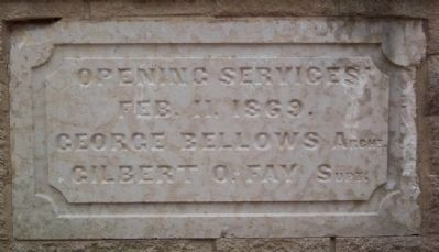 Opening Services Commemorative Stone image. Click for full size.