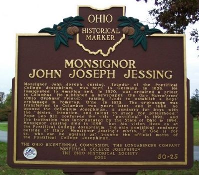 Monsignor John Joseph Jessing Marker image. Click for full size.