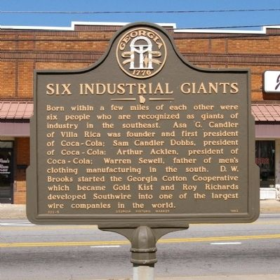 Six Industrial Giants Marker image. Click for full size.