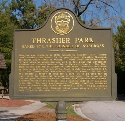 Thrasher Park Marker image. Click for full size.