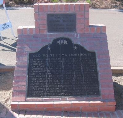 Old Point Loma Lighthouse Marker image. Click for full size.