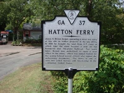 Hatton Ferry Marker image. Click for full size.