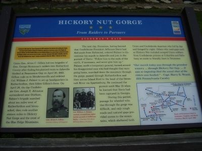 Hickory Nut Gorge Marker image. Click for full size.