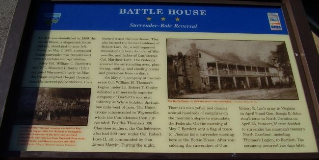 Battle House Marker image. Click for full size.