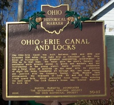 Ohio-Erie Canal and Locks Marker (side A) image. Click for full size.