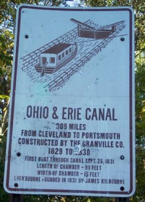 Ohio & Erie Canal Marker image. Click for full size.