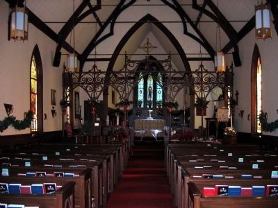 Interior of Historic Emmanuel Episcopal Church image. Click for full size.