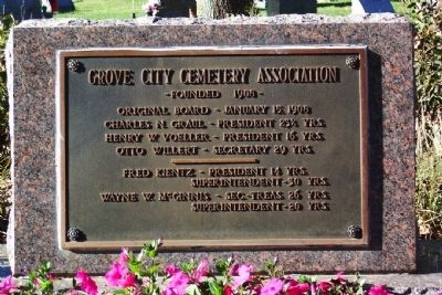 Grove City Cemetery Association Marker image. Click for full size.