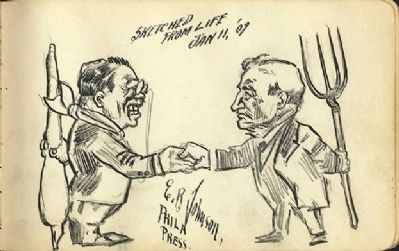 "Theodore Roosevelt with Benjamin ""Pitchfork Ben"" Tillman image. Click for full size."