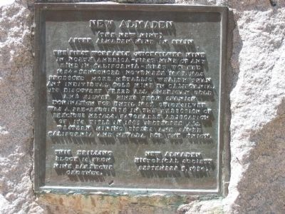 New Almaden Marker image. Click for full size.